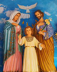 Holy Family in the Chapel at Koyari